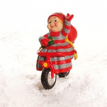 Babynisse pige på cykel, holder ikke på styret