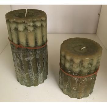 Eksklusive stearin lys i Grønlige farver (10cm eller 15 cm) stearin
