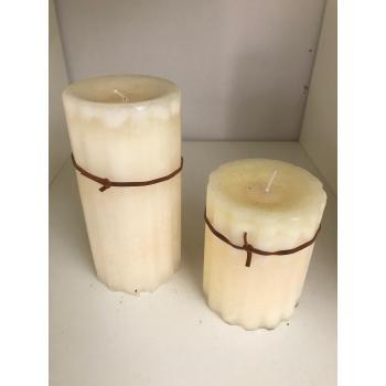 Eksklusive stearin lys i Hvidlige farver (10cm eller 15 cm) starin