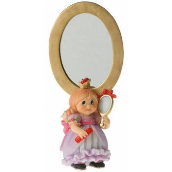 Prinsesse med spejl (18 cm Høj) poly